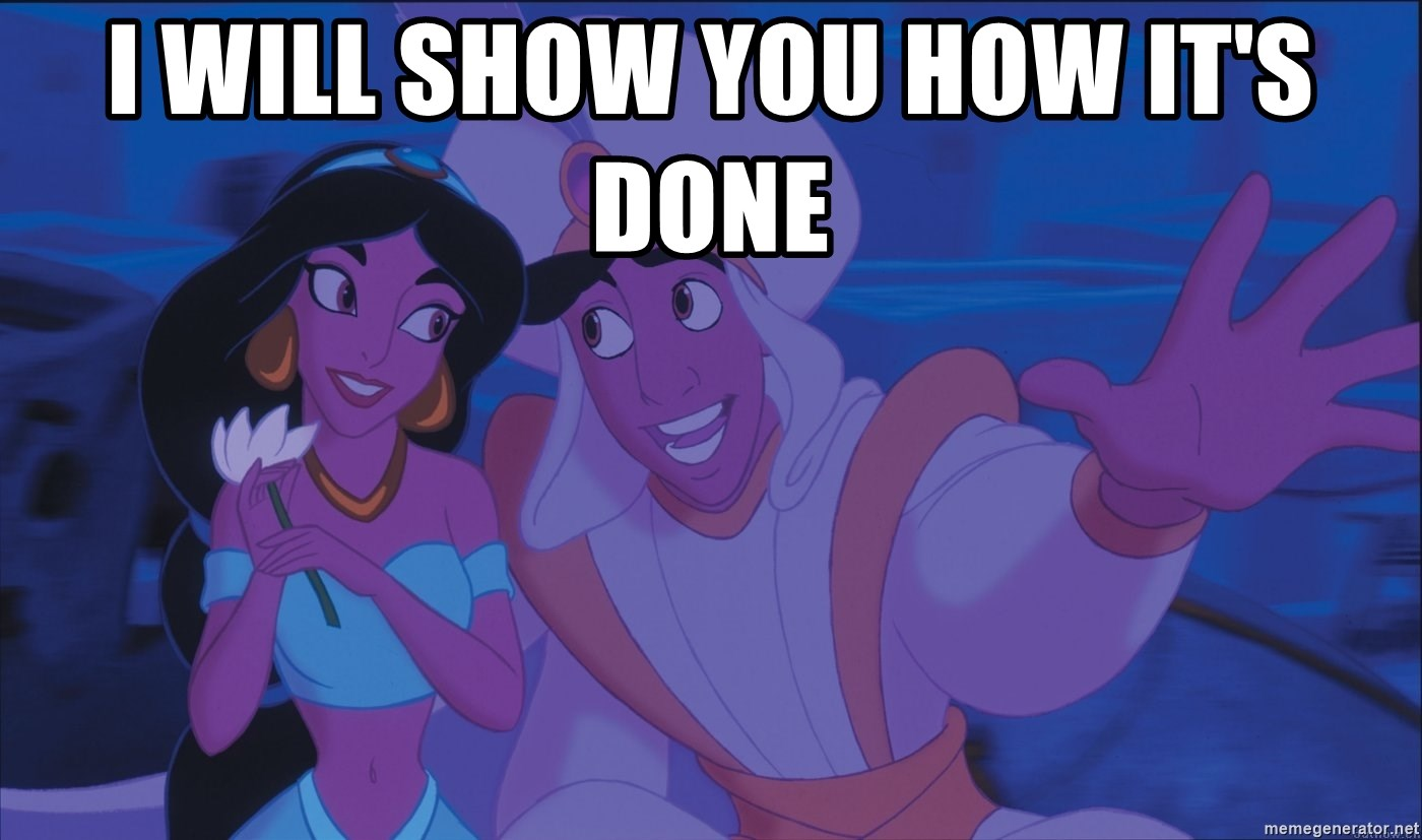 Aladdin and Jasmine - i will show you how it's done