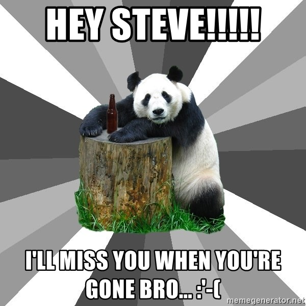 Hey Steve Ill Miss You When Youre Gone Bro Pickup