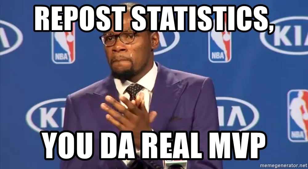 KD you the real mvp f - Repost Statistics, You Da real MVP