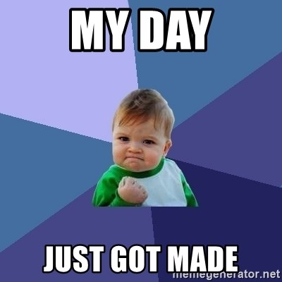 Success Kid - my day just got made