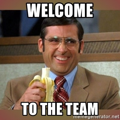 welcome to the team steve carell meme generator