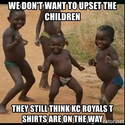 Dancing black kid - We don't want to upset the children They still think KC Royals t shirts are on the way