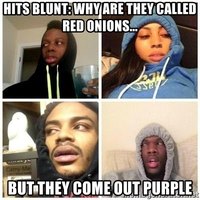 Hits Blunts - Hits Blunt: Why are they called Red Onions... But they come out PURPLE