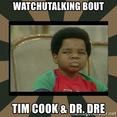 What you talkin' bout Willis  - Watchutalking bout Tim Cook & Dr. Dre