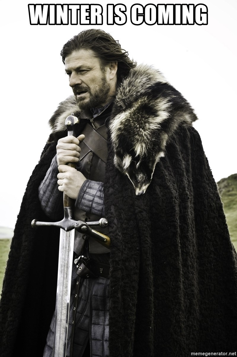 Sean Bean Game Of Thrones - winter is coming