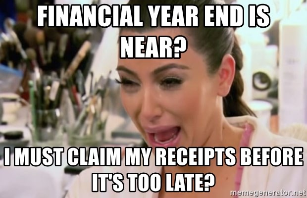 Kim Kardashian Crying - Financial year end is near? I must claim my receipts before it's too late?