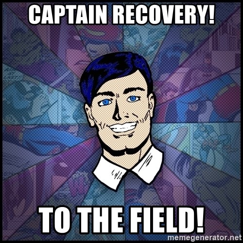 Cynical Superhero - Captain Recovery! To the Field!