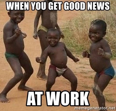 Image result for Good Good news meme