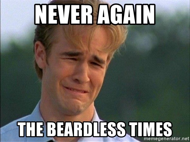 Crying Man - never again the beardless times