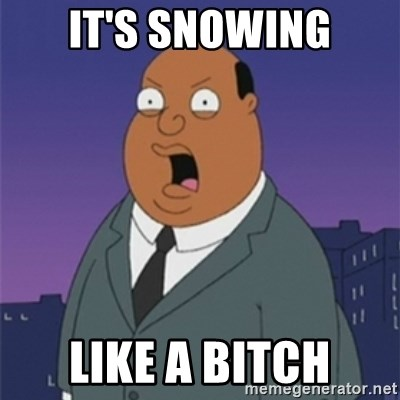 ollie williams - It's snowing Like a bitch