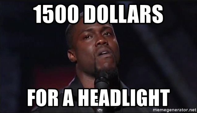 Kevin Hart Face - 1500 dollars for a headlight