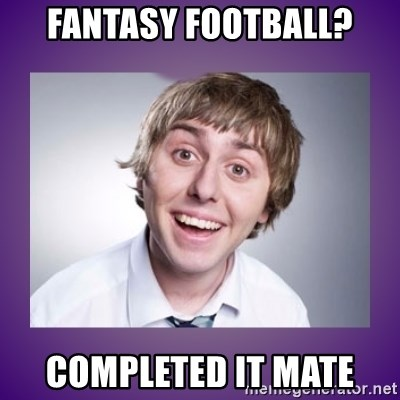 Image result for fantasy league completed it mate