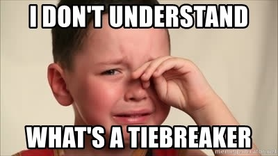 I don't understand What's a tiebreaker - cry baby   Meme Generator