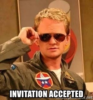 Invitation accepted barney stinson meme generator barney stinson invitation accepted stopboris Image collections