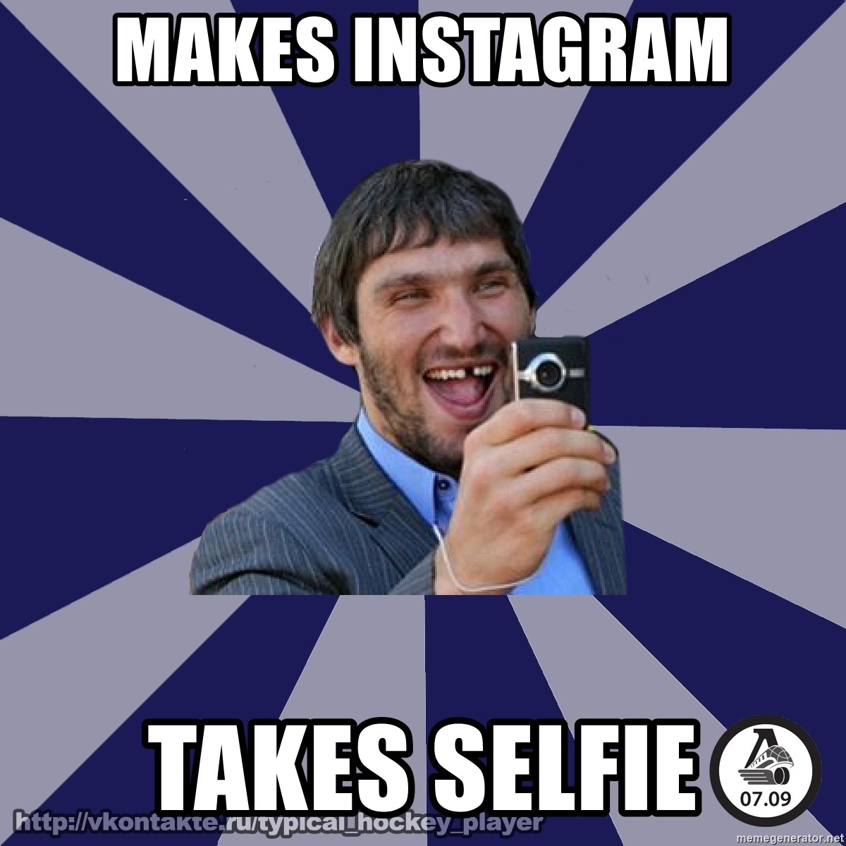 typical_hockey_player - Makes Instagram Takes selfie
