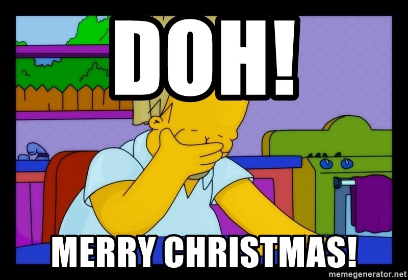 merry christmas homer facepalm meme generator - Merry Christmas Meme Generator