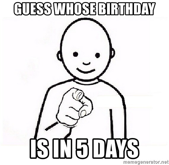 GUESS WHO YOU - GUESS WHOSE BIRTHDAY IS IN 5 DAYS