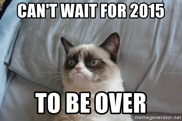Grumpy cat 5 - Can't wait for 2015 to be over