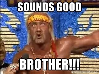 Sounds Good Brother!!! - Hulk Hogan Meme | Meme Generator