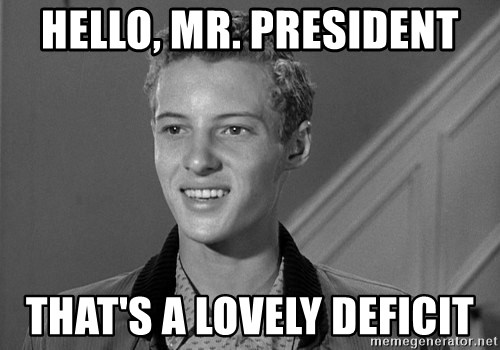 Eddie Haskell - Hello, mr. President that's a lovely deficit