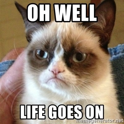 Grumpy Cat  - Oh well  Life goes on