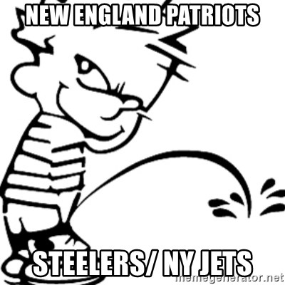 Consider, steelers pissing on jets did not