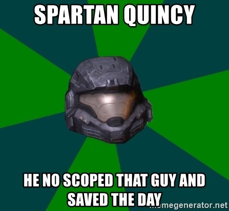 Halo Reach - Spartan Quincy He no scoped that guy and saved the day