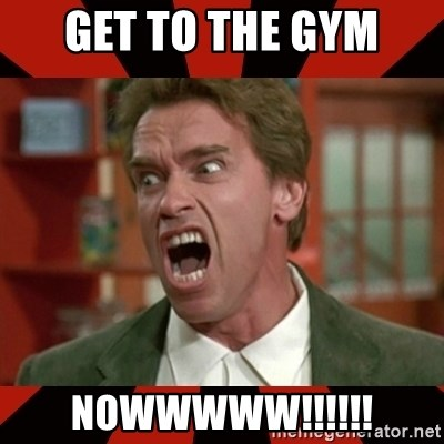 Arnold Schwarzenegger 1 - Get to the Gym Nowwwww!!!!!!