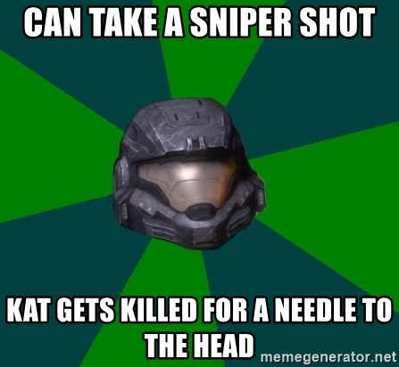 Halo Reach - CAN TAKE A SNIPER SHOT KAT GETS KILLED FOR A NEEDLE TO THE HEAD