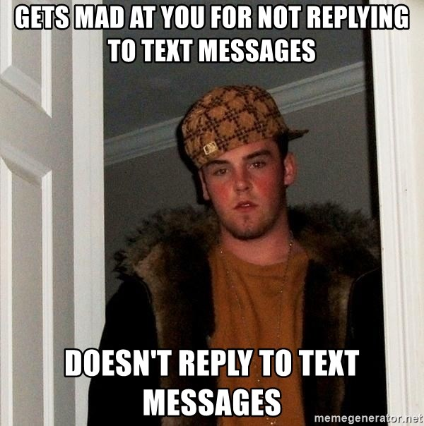 Not replying to messages