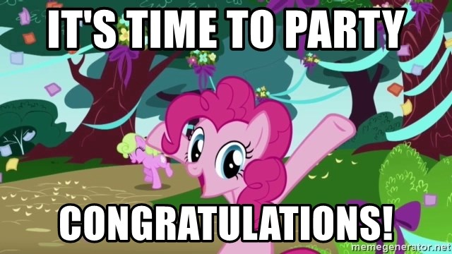 My Little Pony - It's time to party congratulations!