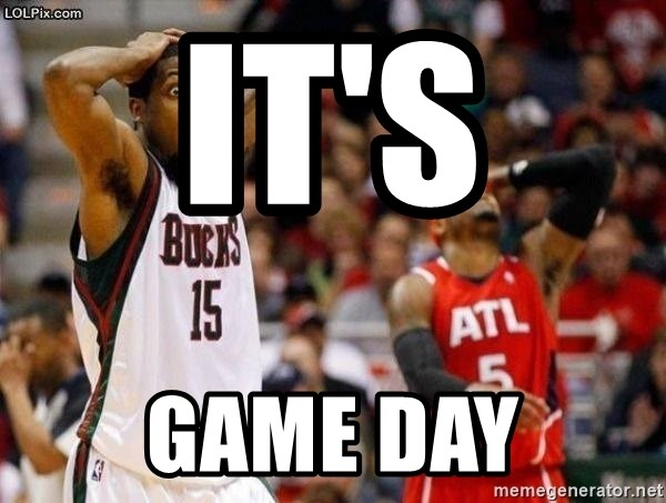 It S Game Day Surprised Basketball Player Meme Generator