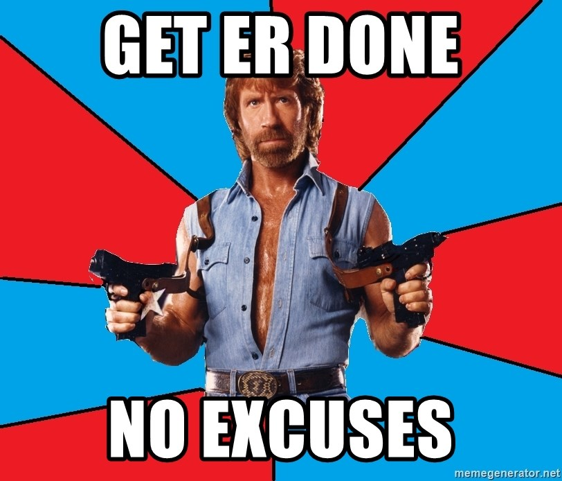 Chuck Norris  - Get Er Done no excuses