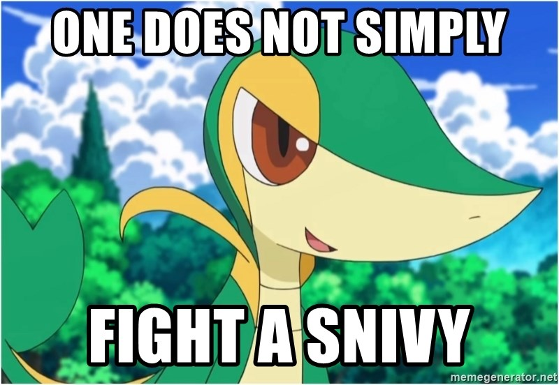 Snivy - One Does Not Simply Fight a Snivy