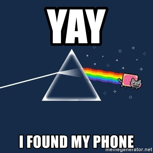 yay i found my phone yay i found my phone nyan cat meme generator