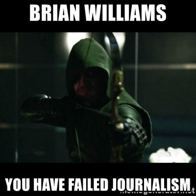 YOU HAVE FAILED THIS CITY - Brian williams you have failed Journalism