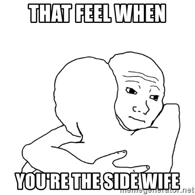 I know that feel bro blank - That feel when you're the side wife