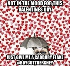 Not In The Mood For This Valentines Day Just Give Me A Cadbury Flake