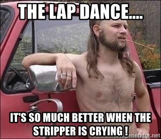 Stripper is crying