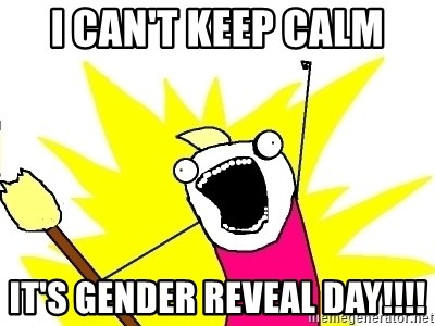 59170059 i can't keep calm it's gender reveal day!!!! x all the things
