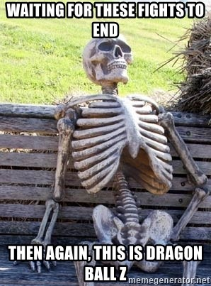 Waiting Skeleton - Waiting for these fights to end Then Again, This IS dragon ball Z