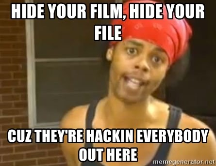 Antoine Dodson - Hide your film, hide your file cuz they're hackin everybody out here