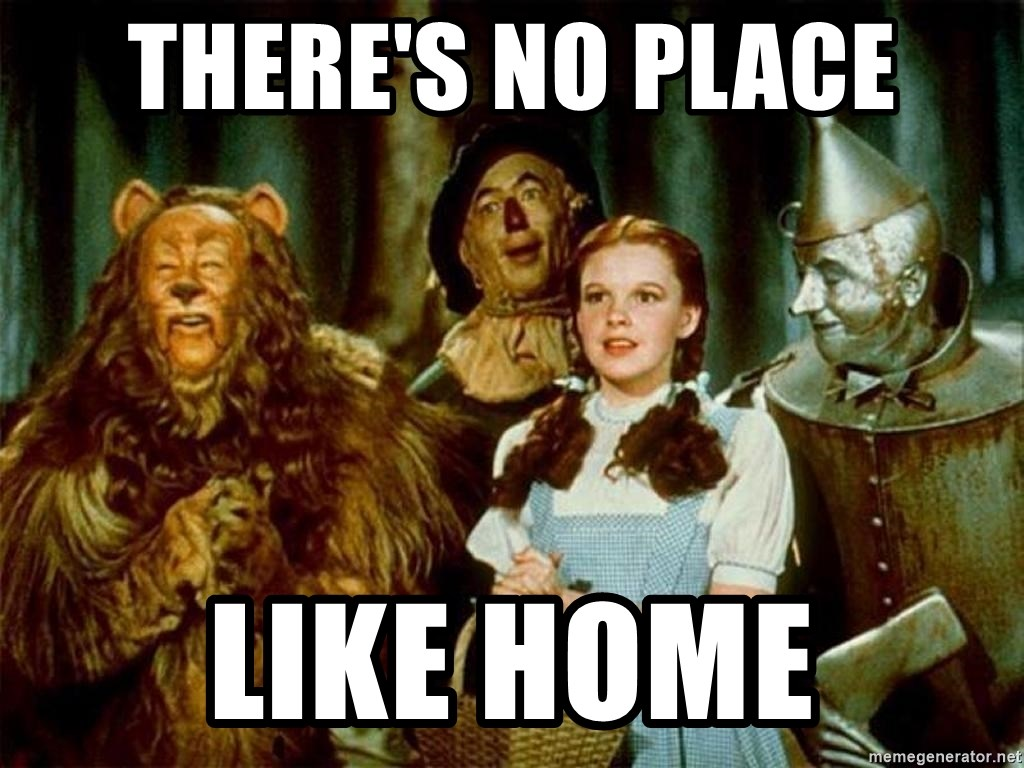 Dorothy Wizard of Oz - THERE'S NO PLACE LIKE HOME