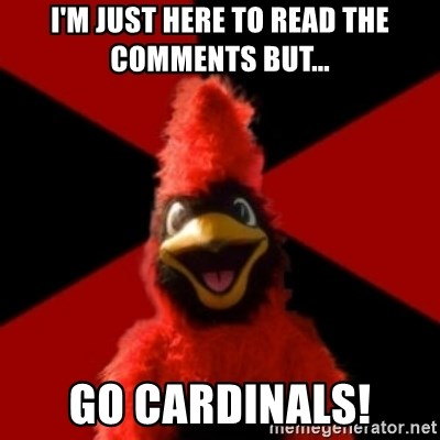 Wesleyan Cardinal - I'm just here to read the comments but... Go Cardinals!