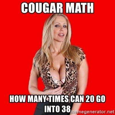 Super Cougar - Cougar Math How many times can 20 go into 38