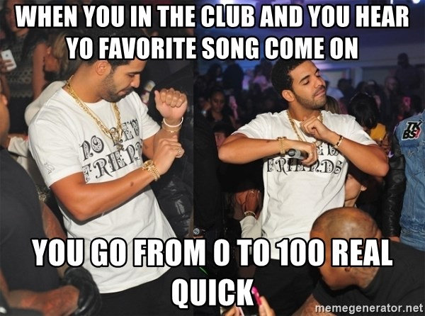 you was at the club meme song