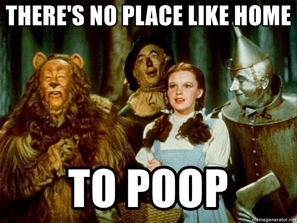Dorothy Wizard of Oz - there's no place like home to Poop