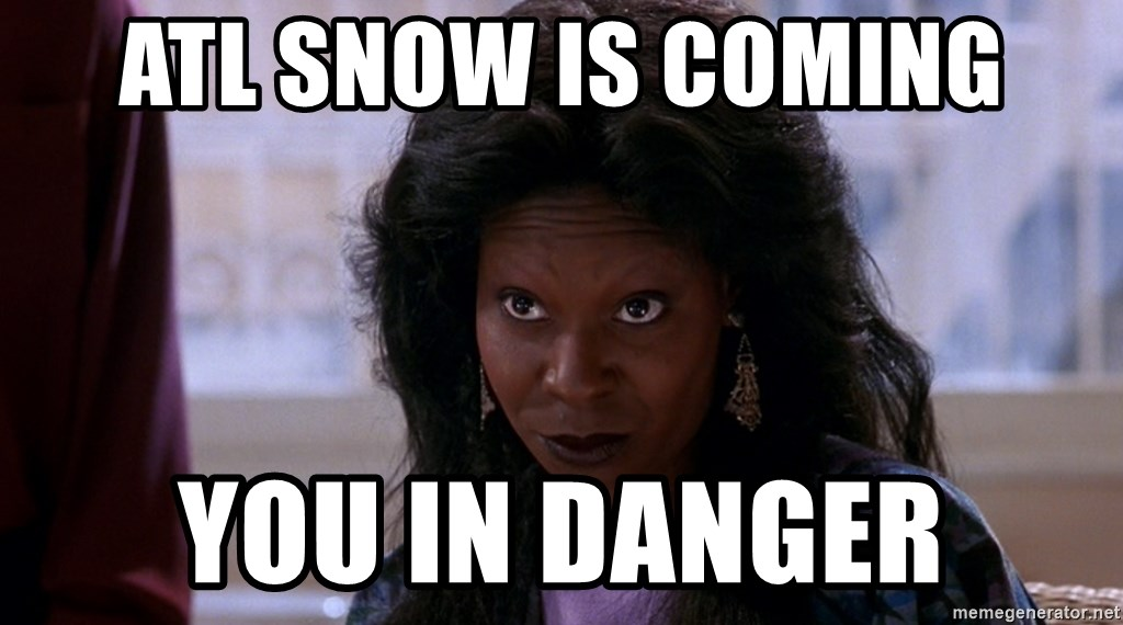 Whoopi Goldberg Ghost 2 - ATL Snow is coming You in Danger