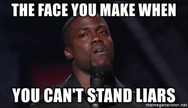 Kevin Hart Face - The face you make when you can't stand liars