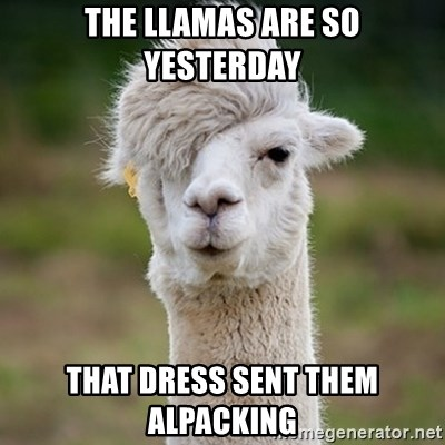 Hipster Llama - The llamas are so yesterday That dress sent them alpacking